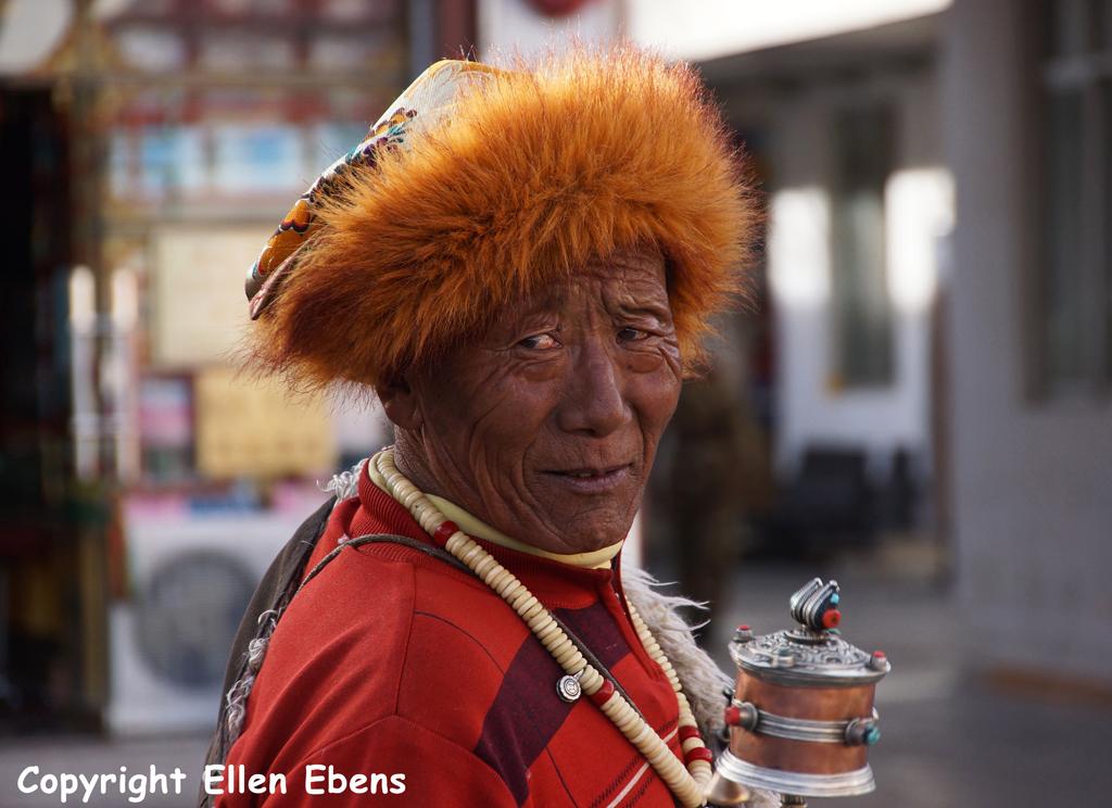 Pilgrim at Barkhor Street, Lhasa