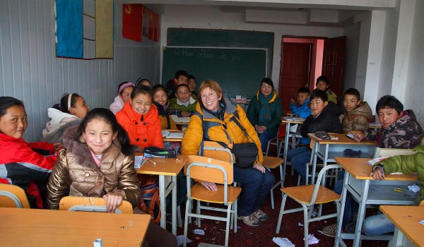 In a school in Lhasa, January 2015