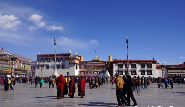 Lhasa: the Jokhang Temple in Lhasa on a bright sunny winter day