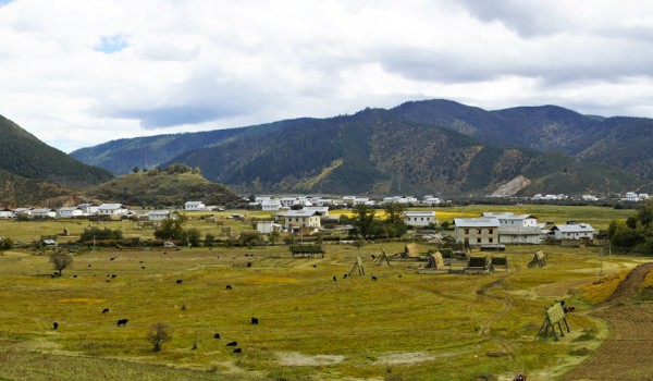 A little village in the vicinity of Shangri-La (Zhongdian), Yunnan