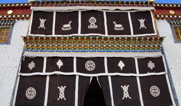 Beautiful Ganden Sumtseling Monastery near Shangri La (Zhongdian), Yunnan