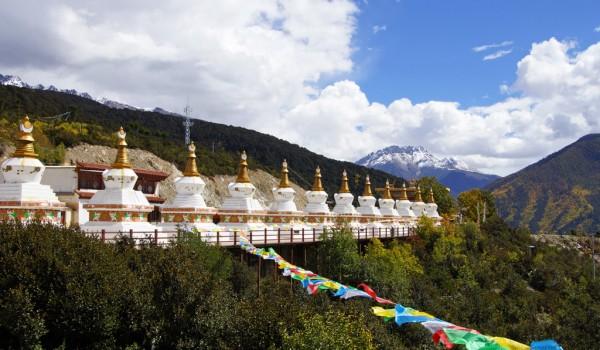 Stupas overlooking Deqin, Yunnan