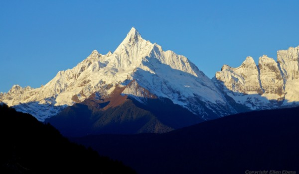 The mountain range of holy Karwa Kharpo at Deqin, Yunnan