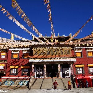 Tagong Monastery in the town of Tagong is an important monastery of the Sakya school of Tibetan Buddhism