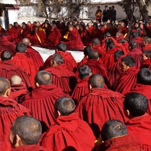 Lhasa: special ceremony at Sera Monastery