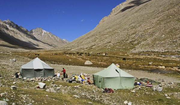 Day 2 of the kora: nomad tents in the Lham-chu Valley (2012)