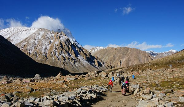 Day 2 of the kora: last view on Mount Kailash (2012)