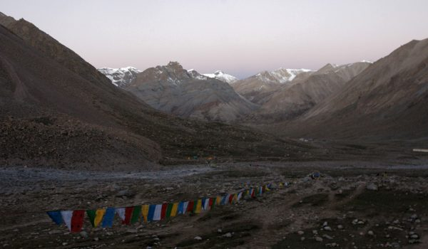 Day 2 of the kora: leaving the guesthouse early in the morning (in the dark) and starting the climb to the Drolma La pass (2010)