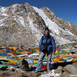 At Drolma La pass (5.660m) during the kora around Mount Kailash in 2010
