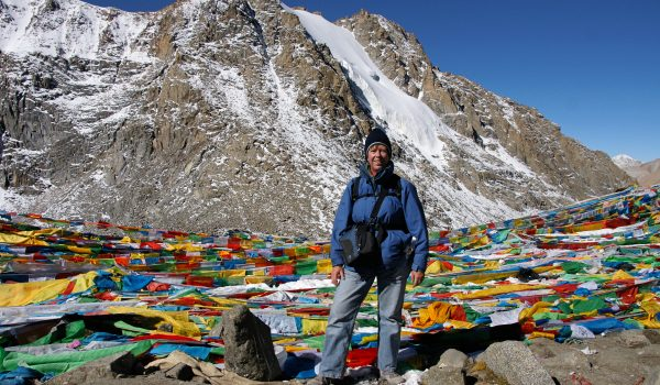 At Drolma La pass (5.660m) during the kora around Mount Kailash in 2010