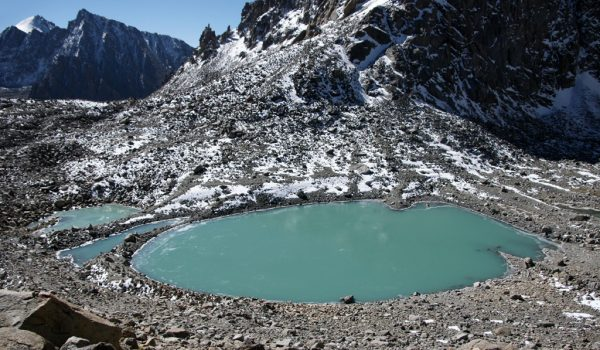 Day 2 of the kora: the Gauri Kund lake just below Drolma La pass at 5.608m (2010)