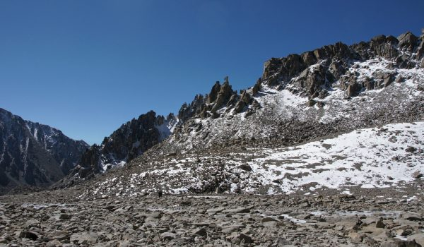 Day 2 of the kora: a bit of flat, rocky landscape after the descend from Drolma La (2010)