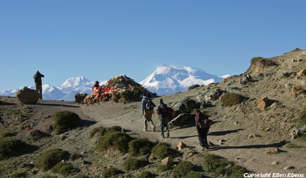 Day 3 of the kora: coming out of the Lham-chu Valley and reaching the Barkha Plain again (2010)