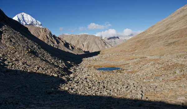 Day 2 of the kora: last view on Mount Kailash (2011)