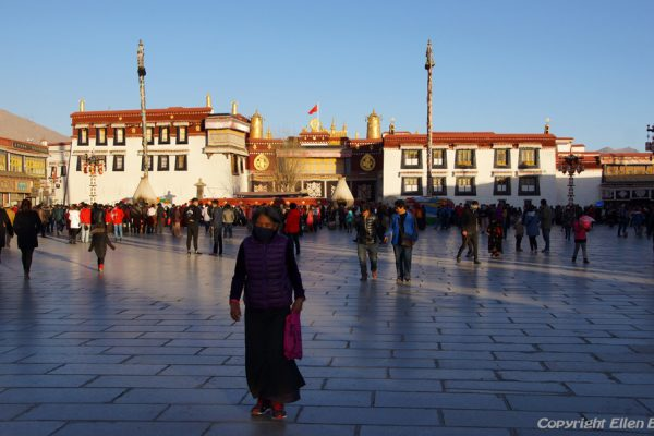 The Jokhang Temple in the old city of Lhasa