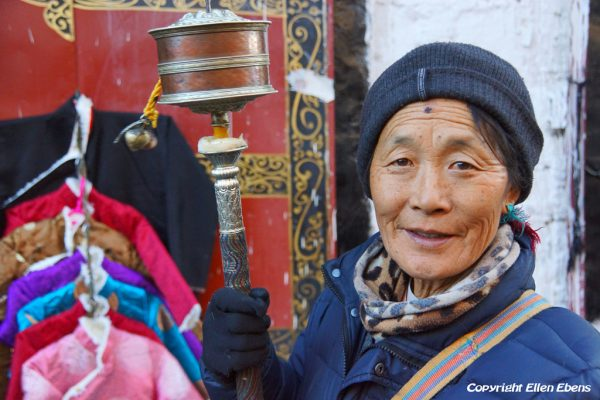 Lhasa: portrait of a women at the Barkhor
