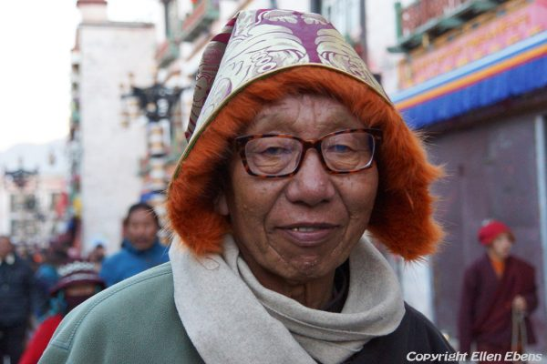 Lhasa: portrait of a pilgrim at the Barkhor