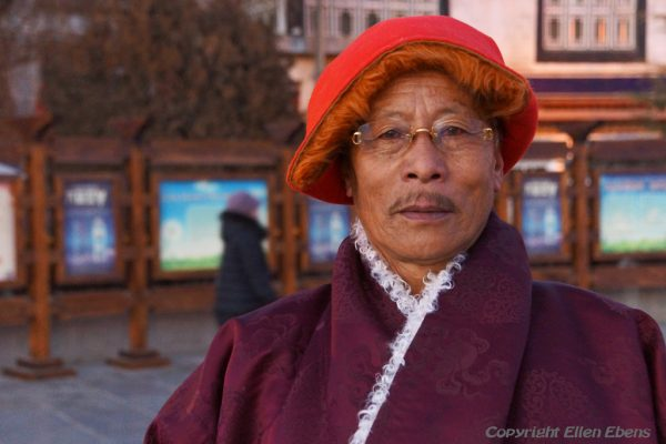 Lhasa: portrait of a monk at Barkhor Square