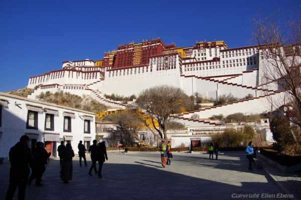 The magnificent Potala Palace at Lhasa
