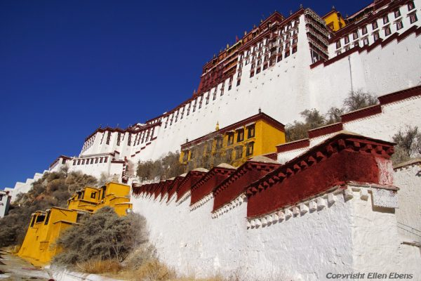 The magnificent Potala Palace at Lhasa