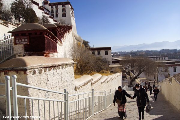 Walking the stairs of the magnificent Potala Palace at Lhasa