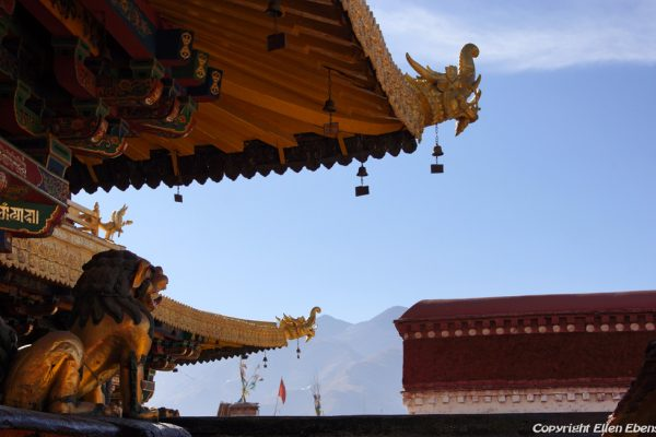 Lhasa: on the roof of the Jokhang Temple