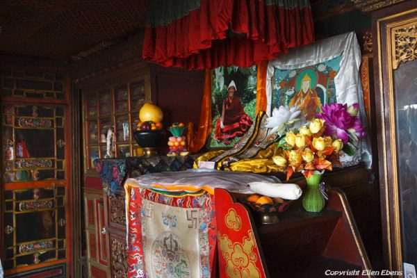 Lhasa: inside Meru Nyignba Monastery, situated behind the Jokhang Temple