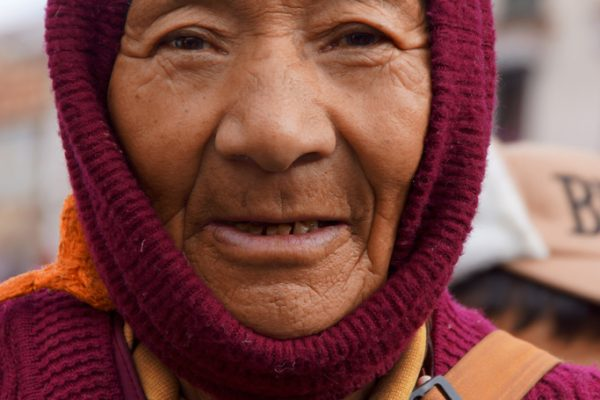 Lhasa: portrait of a nun at the Barkhor
