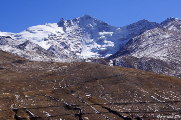 View from Yasang Monastery on the snow mountains