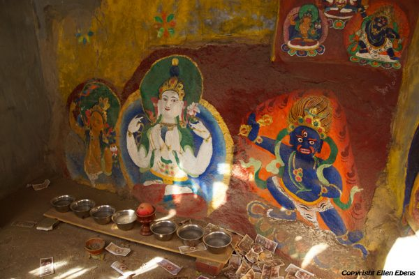 Lhasa: rock paintings at Pabongka Monastery