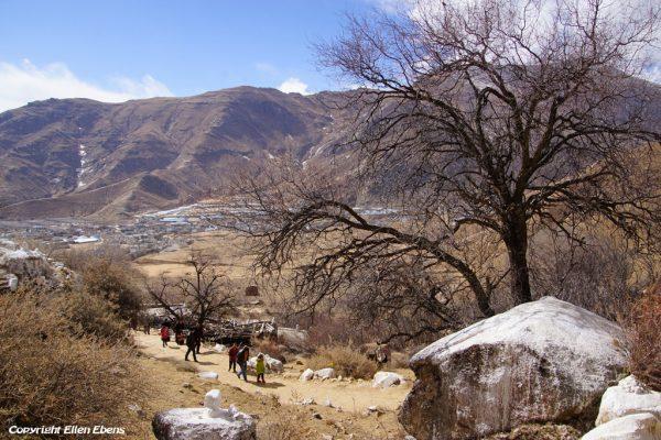 Lhasa: pilgrims at Pabongka Monastery