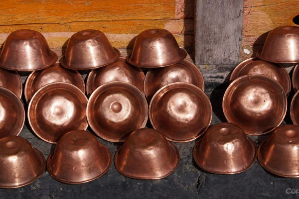 Lhasa: water bowls at Chubzang Nunnery