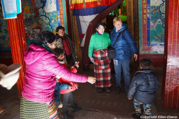 At Tsurpu Monastery some pilgrims wanted a picture with me, January 2017