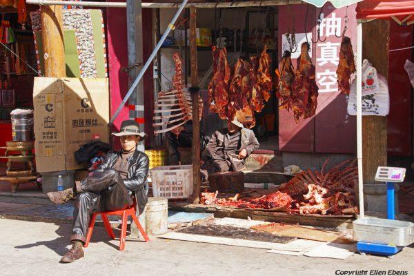 Butcher shop at Songpan Ancient Town