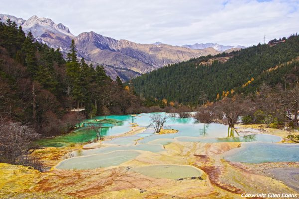 Huanglong National Park: Flamboyant Pond