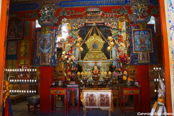 Xiahe: inside the big guilded stupa