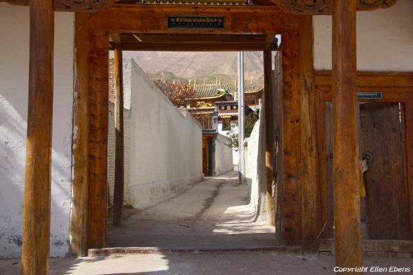Entrance of Rgasar monastery near Rebkong (Tongren)