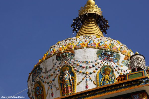 Stupa of Gomar monastery near Rebkong (Tongren)