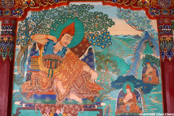 Wall painting at Rongwu Monastery