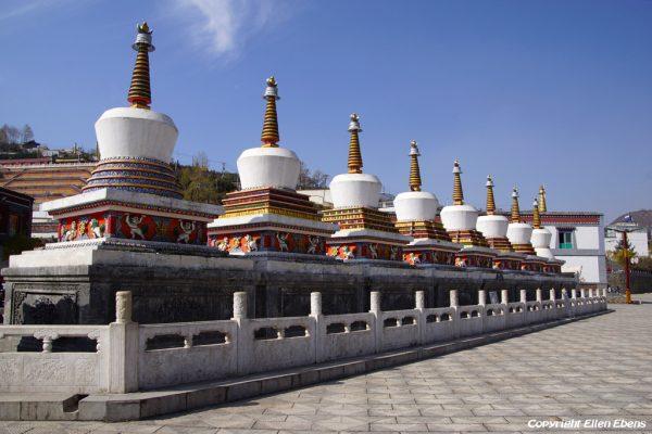 Stupas at Kumbum Monastery (Ta'er Si) near Xining