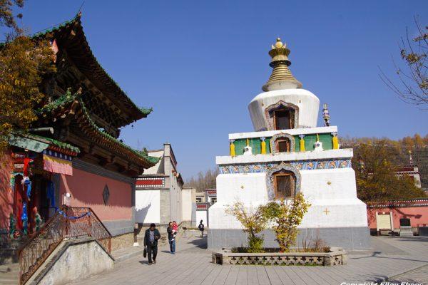 Stupa at Kumbum Monastery (Ta'er Si) near Xining