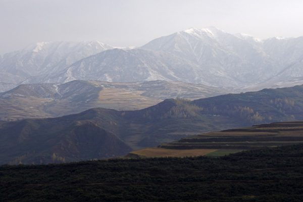 Landscape near Takster, the birthplace of the 14th Dalai Lama