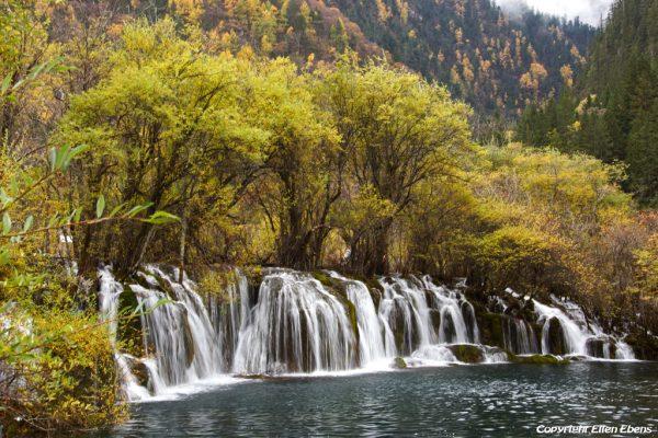 Jiuzhaigou National Park: waterfalls of Arrow Bamboo Lake