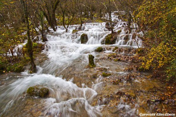 Jiuzhaigou National Park: falls at Panda Lake