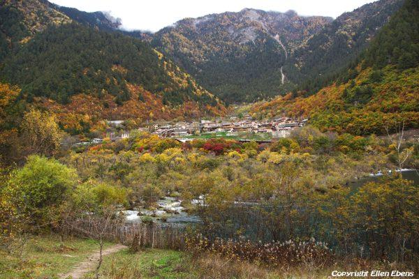 Jiuzhaigou National Park: Shuzheng Village with Shuzheng Falls