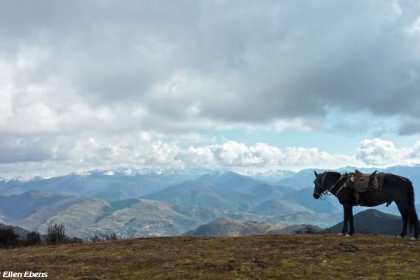 Horse riding in the mountains around Songpan