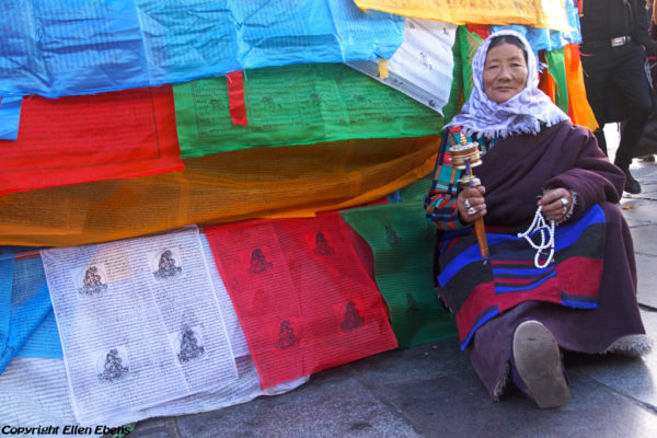 Lhasa, pilgrim at the Barkhor