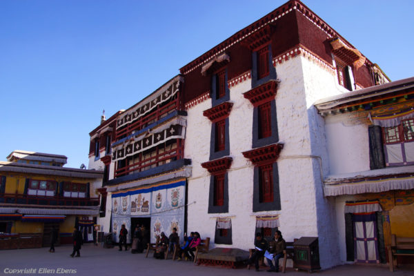 Lhasa, the entrance of the courtyard Potala Palace