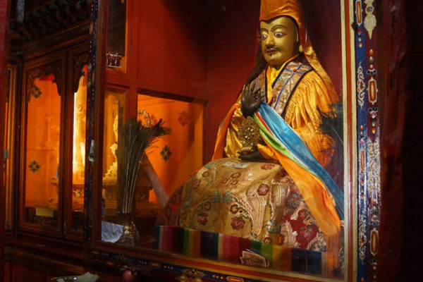 Inside Thandruk Monastery near the city of Tsedang