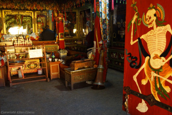 Chapel on the second floor of Thandruk Monastery